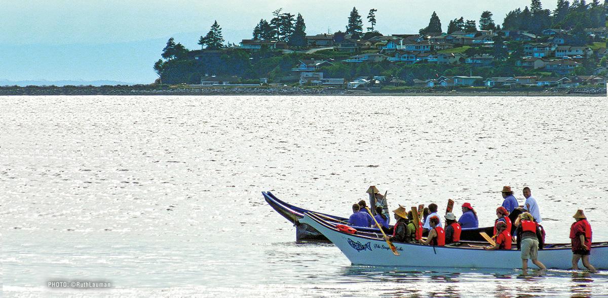 Swinomish Canoes in Birch Bay WA