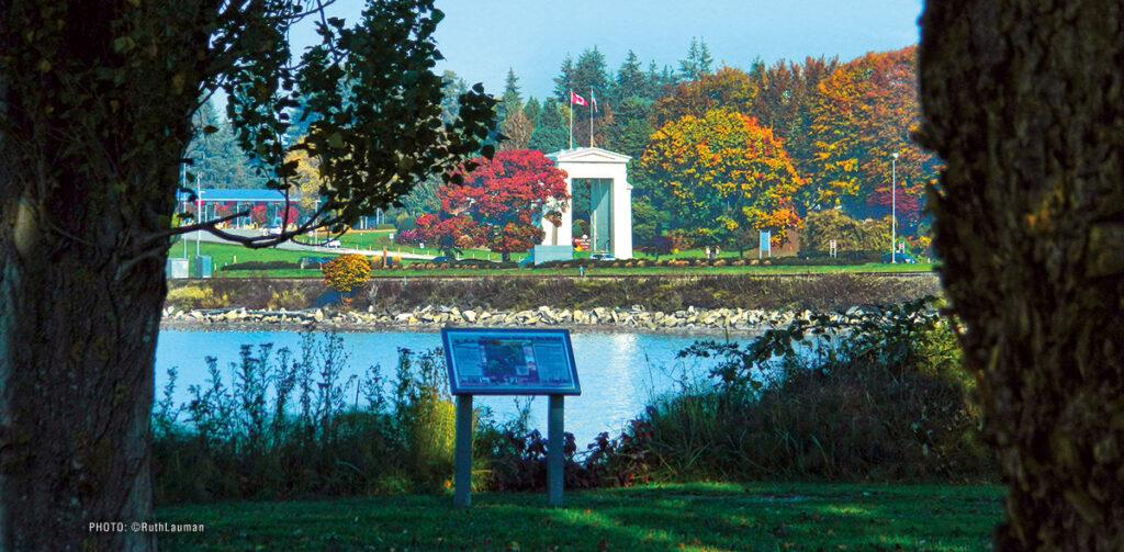 The Peace Arch from Blaine Marine Park