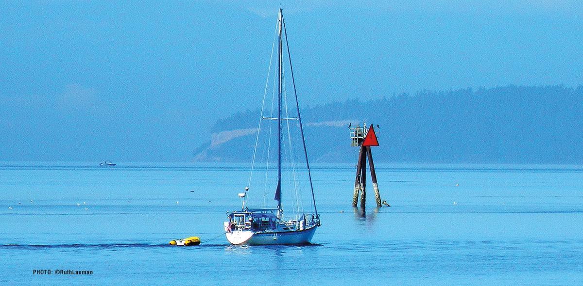 Sailing Semiahmoo Bay from Blaine Harbor in Blaine WA