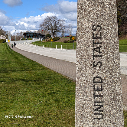 US-Canada Border Closure at Peace Arch Park Blaine WA